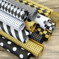 Wholesale Gift Wrapping Books - 20pcs lot 60*60 High-grade Flowers Packaging Christmas Gift DIY Packing Paper Book Cover Simple Stripe Lattice Dots Wrapping Paper