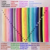 ancho de la banda al por mayor-36 Colores Kid Girl Headband Sólido 1.5 cm de Ancho Headwear Elástico Banda para el Cabello Hairband Tocado DIY accesorios para el cabello