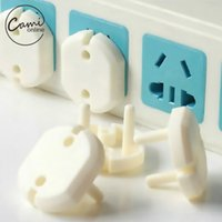Wholesale Electric Socket Protection - 10 Pcs 2 Hole Sockets Cover Plugs Baby Electric Sockets Outlet Plug Kids Electrical Safety Protector Sockets Protection Caps