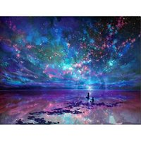 Wholesale Painting Fabrics - Fantasy Sky 100% Full Drill DIY Diamond Painting Embroidery 5D Cross Stitch Crystal Square Home Bedroom Wall Decoration Decor Craft Gift