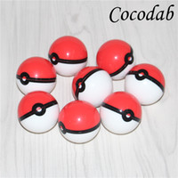 Wholesale Silicone Oil Containers - 2017 Silicon Poke Mon Ball Pokeball Food Grade Silicone Ball Container Jar for Dab Oil Dry herb Wax Box Glass Silicone bongs Rigs