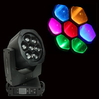 Billig Auto Head Light Kaufen -Günstige 2xLot DJ-Geräte B-Eye Mini Led Moving Head Beam Scheinwerfer 7x15W Zoom RGBW 4in1 High Power Quickshow LED Studio Stage Wash Lights