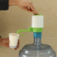 Wholesale New Drinking Hand Press Pumps - Wholesale- New Design 1 set Drinking Hand Press Pump for Bottled Water Dispenser Water Bottle My Bottle with Tag