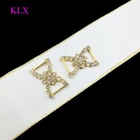 Wholesale cm Gold Crystal bikini connector buckle for Comptitor bilkini suits price cheaper for large order