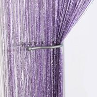 Wholesale Sheer Curtains Tassels - Wholesale-New Romantic Tassel String Curtain Window Door Divider Sheer Curtains Valance rod pocket Vestibule Wall line curtain Decor Y3