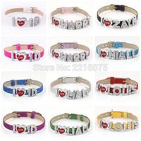 Wholesale One Direction Zayn - Wholesale- One Direction 1D ZAYN NIALL HARRY LOUIS LIAM Wristband Bracelets Rhinestone Metal Slide Letter Charm DIY bangles free shipping
