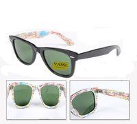 Wholesale Scratching Map - Epacket Vassl Best Quality Classic Sunglasses Black map Frame Glass lens 50  54mm UV400 Sport Sun glasses With box