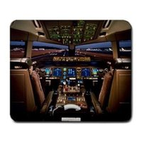 Wholesale Boeing Airplane - Boeing 777 Airplane Cockpit Mouse Pad Customized Game Mouse mat Rectangle mouse mat