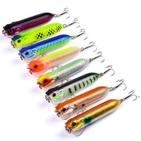 poper bait - 8 color cm g Poper Hard plastic lures fishing hooks Fishhooks D Eyes Fishing baits Hook Artificial Pesca Tackle Accessories