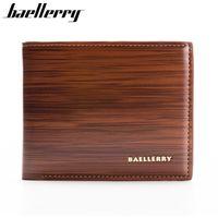 Wholesale Wholesale Male Wallets - Wholesale- BAELLERRY 2016 Men Wallets Short Wallet Man Purse PU Leather Wallet Male Bag Cards Holder Gift for Men HQB1810