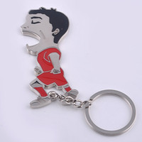 Wholesale Sportsman Ring - 2016 New The World Cup football sportsman beer bottle opener keychain metal athlete key ring keyring holder multifunction key pendant