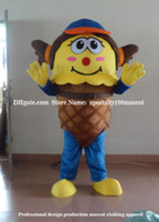 Wholesale Ice Cream Mascot Costumes - ice cream girl mascot costume adult size carnival free shipping, party ice cream girl advertisement mascot costume oem, can customize Logo