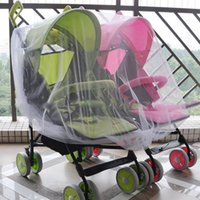 Wholesale Twin Babies Buggies - Wholesale- Useful Newborn Twin Stroller Mosquito Net Baby Buggy Pram Protector Fly Midge Insect Bug Cover Infants Twin Pushchair Net Bar