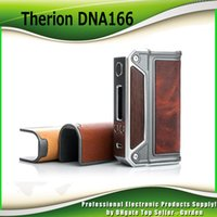 Wholesale Chip Box Freeshipping - Original Lost Vape Therion DNA166 166W TC Box Mod with Built-in Evolv LostVape DNA 166 Chip Powered by Dual 18650 Batteries Black frame