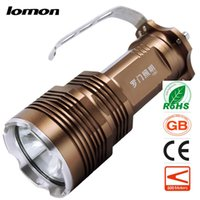 Wholesale High Power Led Flashlight Bulbs - LED Flashlight Handheld Portable Rechargeable Torch handy Searchlight+4 x 18650 Battery +Charge High Power Portable Camping Searchlight Hot
