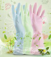 Wholesale Household Gloves Dishwashing - Kitchen Washing Cleaning Gloves Waterproof Durable Rubber Gloves Household Laundry Dishwashing Latex Gloves 3 color KKA1581