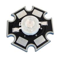 Wholesale 1w led heatsink - Wholesale- New 20pcs 1W Royal Blue 445nm LED Grow Light Parts with 20mm Star Heatsink 3.2V 350mA
