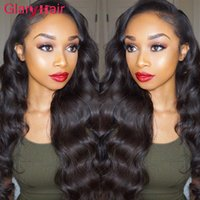 Morceaux De Cheveux Réels Bon Marché Pas Cher-Super Nice Glary Body Wave Hair Weaves Virgin Brazilian Extension de cheveux humains Mix Order Real Cheap Remy Human Hair Bundles 1B Natural Color