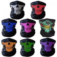 Wholesale Wholesale Halloween Outdoor Decorations - Halloween Skull Masks Outdoor Motorcycle Riding Half Face Mask Seamless Magic Rides Hoods Scarves Masks OOA2241