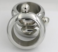 balão de whisky prata venda por atacado-Popular Bangle Bracelet Hip Flask Grau de Prata de Aço Inoxidável 304 de Alta Qualidade Whisky Drinkware e Funil Set
