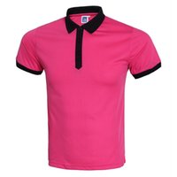 Wholesale Types Shirt Men - 2017 new type of blank T-shirt wholesale fashion casual wear short sleeved shirt Lapel Shirt Custom