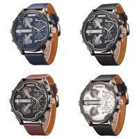 Wholesale Oulm White - Famous Designer Mens Watches Top Brand Luxury Quartz-Watch Oulm Leather Strap Big Face Military Quartz Clock relogio masculino