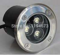 Wholesale W Waterproof outdoor LED underground light AC85 V Warm White White Cold White