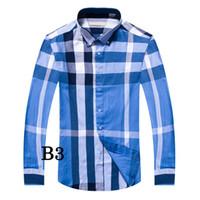 Wholesale blue polo dress - 2018 men gift Fashion Luxury Men Shirts Long Sleeve Mens Dress Shirts Man Cotton Shirt Slim Fit Shirt polo High quality Chemise Homme