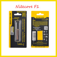 Wholesale E Cigarette Batterie - Authentic Nitecore F1 charger Flexible Intellicharger E Cigarettes battery usb Charger for 18650 18500 14500 Li-on IMR Batterie 100% genuine