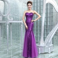 Wholesale Grace Party - DH836 Grace Karin Sequin Long Evening Dress Sparkly Dark Salmon Purple Elegant Formal Dresses Mermaid Evening Gowns High Quality