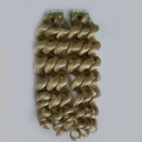 Wholesale Tape Extensions Loose Wave - Loose wave Tape in human hair extensions 100g 40pcs Skin Weft Tape In Hair Extensions #613 Bleach Blonde brazilian virgin hair tape
