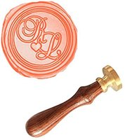 Wholesale wax seal stamp custom - Wholesale- MDLG Custom Your Double Two Initials Love Heart Monogram Vintage Personalized Picture Wedding Invitation Wax Seal Stamp Set