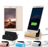 carga del muelle iphone 5s al por mayor-Cargador rápido Base de soporte Estación de soporte Base de carga Sincronización con caja para el iPhone 6 7 Plus 5S TIPO C Para Samsung S6 S7 edge