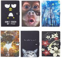 Wholesale Tablet Case Painting - Painting PU Leather Back Cover Cases For ipad air 1 2 for ipad 2 3 4for ipad pro 9.7inch Tablet 10 10.1 inch Universal Tablet PC PAD