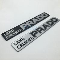Wholesale Toyota Prado Emblem - For Toyota Land Cruiser Prado Logo Car Rear Trunk Lid Emblem Badge Nameplate 3D Chrome Sticker