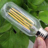 Wholesale Emergency Led E27 4w - Wholesale- 2016 NEW Vintage LED Edison Bulb E27 220V Antique COB LED Filament Light 2W 4W 6W T45 Edison Lamp 360 Degree Bulb