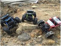 ingrosso 4x4 giocattoli-Ad alta velocità 4WD Radio RC Auto 2.4G Fuoristrada 4x4 Guida Controle Remoto Rc Drift Auto Veicolo Giocattolo Hobby