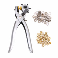 Wholesale- Leather Holes Punch Pliers Tool Heavy Duty Revolving Belt Hand Pliers Eyelet New