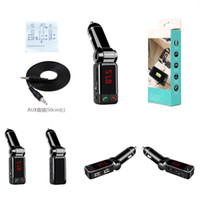 Wholesale Gps Bluetooth A2dp - BC06 Mini MP3 Bluetooth Car Charger Music Player Double USB Charger Port A2DP AUX FM Transmit For Phone GPS Tablet with Retail Package