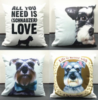 Wholesale Car Seat Covers For Dogs - Schnauzer Dog Cushion Covers English Letters All You Need Is Schnauzer Love Pillow Cover Decorative Soft Pillow Case For Car Sofa Seat