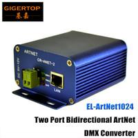 Wholesale Port Arm - TIPTOP TP-D15 EL-ArtNet1024 Two Port Bidirectional ArtNet DMX Converter Box High-speed ARM Processor Standard ArtNet Protocol