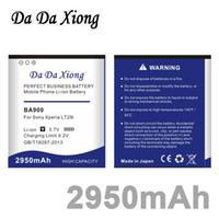 Wholesale Tx Lt29i - Da Da Xiong 2950mAh BA900 Li-ion Phone Battery for Sony Ericsson TX LT29i J ST26i LS36h   C2104   C2105