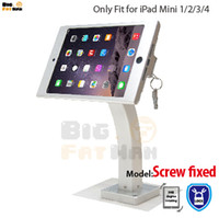 Wholesale Tablet Security Display Stand - Fit for iPad mini 1234 wall mount aluminum metal case bracket Security display kiosk POS with lock holder for ipad tablet stand