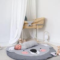 Wholesale Baby Koalas - eClouds 2017 Newest Cotton koala Baby Blanket Diameter 85cm Soft kids Sleeping Blankets Crawling mat Baby Bedding Supplies
