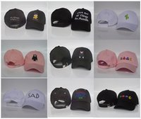 Wholesale Peach Balloons - Three-dimensional embroidery small fresh color in spring and summer female hot-air balloon curved eaves baseball cap free shipping