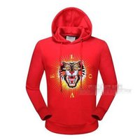 Wholesale Top Brands Mens Sweater - New Women and Mens Hooded fleece jacket Slim sweater pullover Brand G Hoodies Sweatshirts tiger base shirt Students Coat Tops