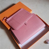 Wholesale Passport Holder Pink Leather - M109 Genuine leather Cards passport holder women brand designer free shipping handbag wallet original box purse fashion luxury