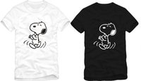 Wholesale Dog Cotton Tshirts - Free shipping high quality snoopy t-shirts dog Kids tshirts snoopy t shirt 100% cotton Children's T-shirt 6 color