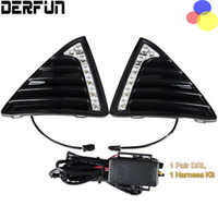 Wholesale Daytime Running Led Ford Focus - For Ford Focus 3 2013 2014 2015 LED DRL Daytime Running Lights Gloss Style Fog Lamp With Turn off And Dimmer Function Case