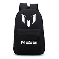 mochilas rojas para niños al por mayor-Messi mochilas mochilas estrella de fútbol para niños mochila para niños adolescentes niñas bolsas de escuela rojo